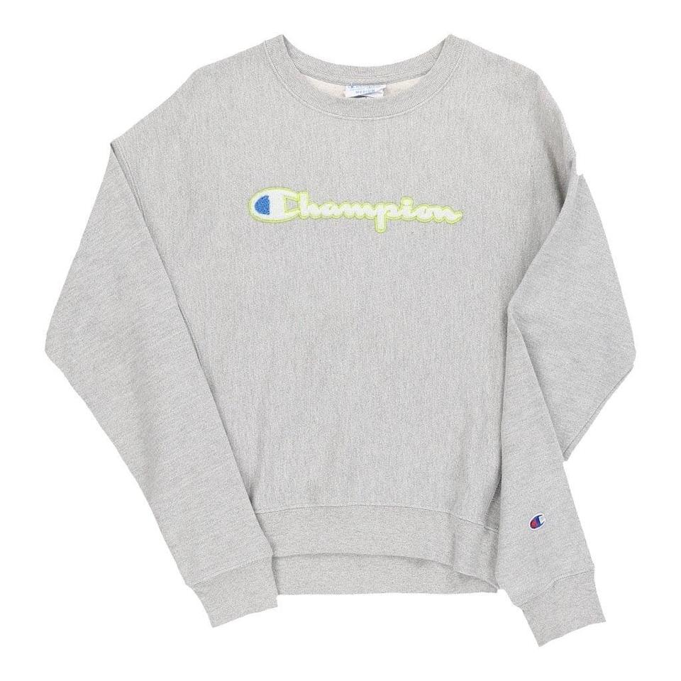 "<br><br><strong>Champion</strong> Medium Grey Sweatshirt, $, available at <a href=""https://www.thrifted.com/collections/vintage-womens-sweatshirts-hoodies/products/vintage-champion-sweatshirt-womens-grey-medium-69323"" rel=""nofollow noopener"" target=""_blank"" data-ylk=""slk:thrifted.com"" class=""link rapid-noclick-resp"">thrifted.com</a>"