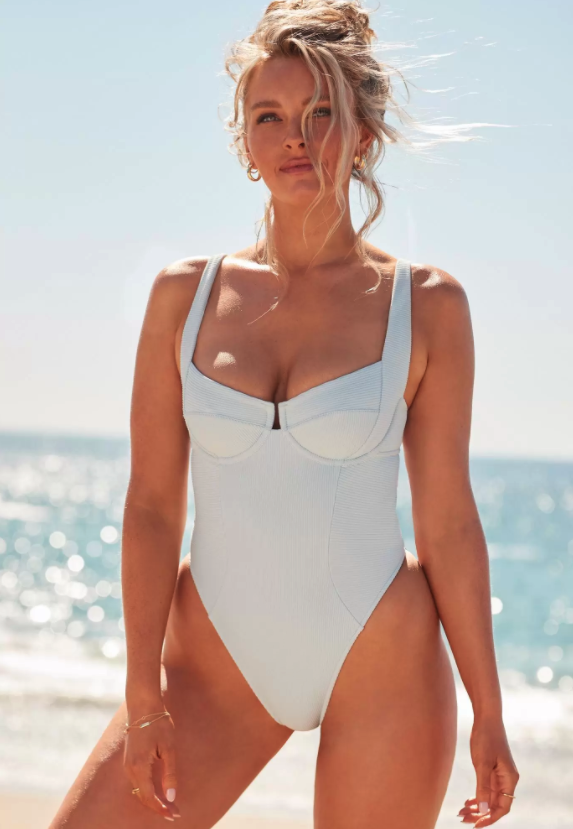 Camille Kostek She's Iconic Underwire One Piece. Image via Swimsuits for All.