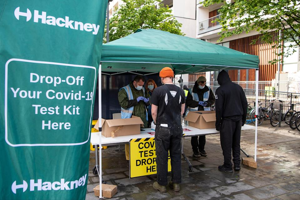 While more than 8,000 test kits have been ordered or collected by people living in the areas, just 20 percent have been returned to collection sites, the council saidDaniel Hambury/Stella Pictures Ltd