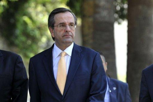 The leader of Greece's conservative New Democracy party, Antonis Samaras