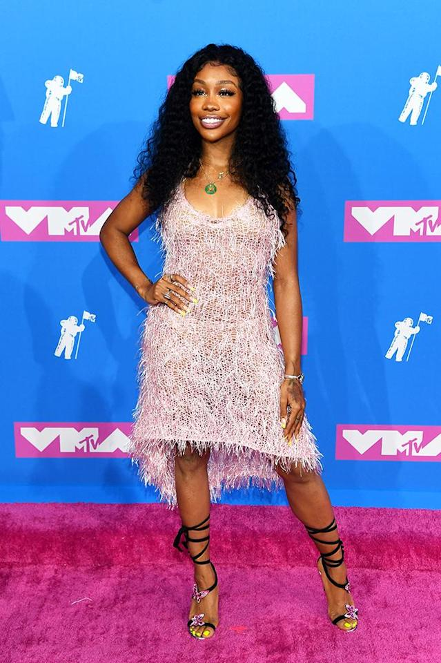 <p>SZA attends the 2018 MTV Video Music Awards at Radio City Music Hall on August 20, 2018 in New York City. (Photo: Nicholas Hunt/Getty Images for MTV) </p>