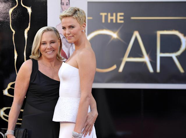 Charlize Theron and her mother Gerda (Credit: AP)