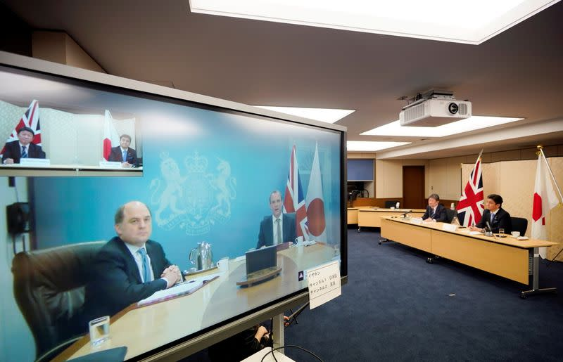 """Japan-Britain Foreign and Defense Ministerial Meeting """"2+2"""" video conference"""