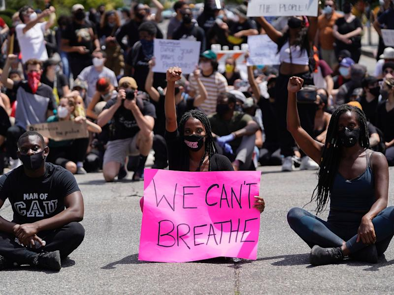 black lives matter protest la