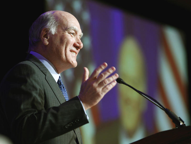 White House Chief of Staff Bill Daley addresses the Democratic National Committee winter meeting in Washington, Saturday Feb. 26, 2011. (AP Photo/Jose Luis Magana)