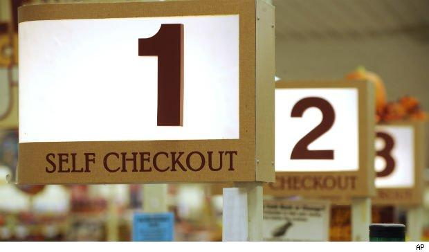 Self checkout: Middle class jobs vanishing in America