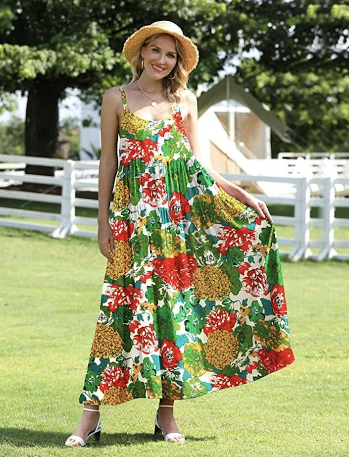<p>Turn heads in this playful <span>Yesno Floral Maxi Dress</span> ($20, originally $30). The loose fit makes it awesome for hot days.</p>