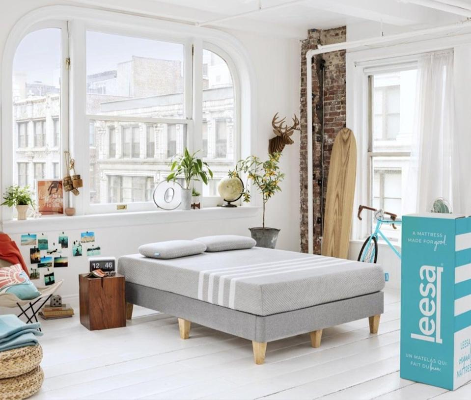 """<p>""""My partner and I fell for our <span>Leesa Memory Foam Mattress</span> ($699-$1,099, originally $799-$1,299) on the very first sleep. We'd tested at least five foam mattresses in-store - some with different """"sleep numbers"""" - and watched at least a dozen YouTube reviews of direct-to-consumer mattresses before we decided to try the Leesa. And boy, am I glad we did. The foam mattress pitches a balance of firm (for him) and soft (for me) and adapts to your body. There's a 100-day trial period, but we didn't need it. We immediately agreed we were having some of the best sleep of our lives."""" - Angelica Marden, president, Editorial</p> <p>If you want to read more, here is the <a href=""""https://www.popsugar.com/home/Best-Affordable-Foam-Mattress-Buy-Online-43956936"""" class=""""link rapid-noclick-resp"""" rel=""""nofollow noopener"""" target=""""_blank"""" data-ylk=""""slk:Leesa Memory Foam Mattress"""">Leesa Memory Foam Mattress</a> review.</p>"""