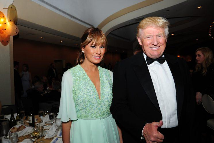 While Donald and Melania Trump won't be there this year, they have attended the White House Correspondents' Dinner several times, including 2015. (Photo: Getty Images)