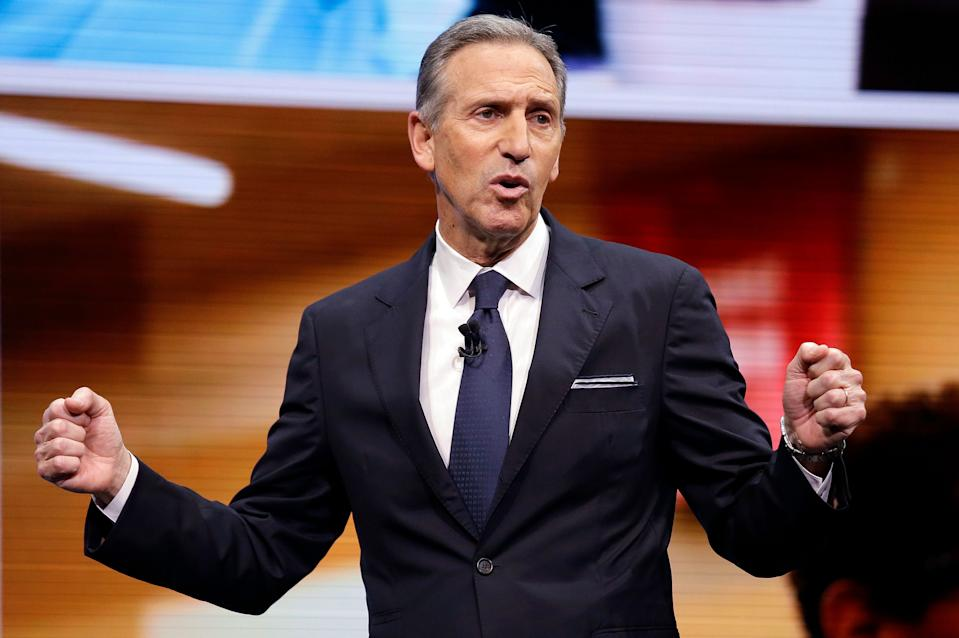 "FILE - In this March 22, 2017, file photo, Starbucks CEO Howard Schultz speaks at the Starbucks annual shareholders meeting in Seattle. Schultz has told employees at an employee following the violence at the Aug. 12, 2017, white nationalist rally in Charlottesville, Virginia, that bigotry, hatred and senseless acts of violence against ""people who are not white"" cannot stand. (AP Photo/Elaine Thompson, File)"