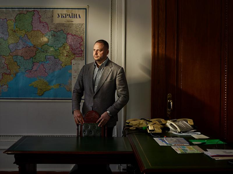 Andriy Yermak, a top adviser to Zelensky, at his office in Kyiv on Dec. 4 | Paolo Verzone—Agence VU for TIME