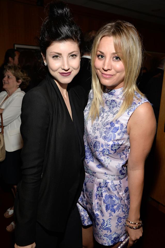 """BEVERLY HILLS, CA - JULY 24:  Actresses Briana Cuoco and Kaley Cuoco attend the after party for the premiere of """"Blue Jasmine"""" hosted by AFI & Sony Picture Classics at AMPAS Samuel Goldwyn Theater on July 24, 2013 in Beverly Hills, California.  (Photo by Frazer Harrison/Getty Images for AFI)"""