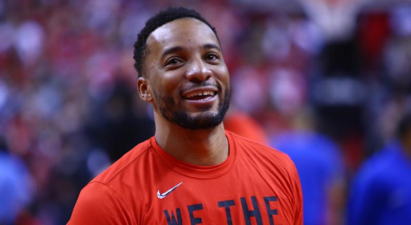 Norman Powell before a game against the Orlando Magic.