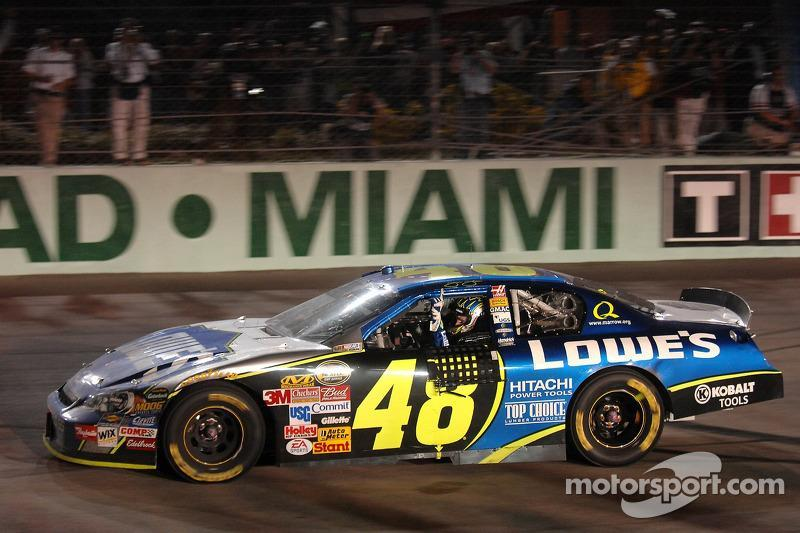 "2006: Jimmie Johnson (Hendrick-Chevrolet)<span class=""copyright"">General Motors</span>"