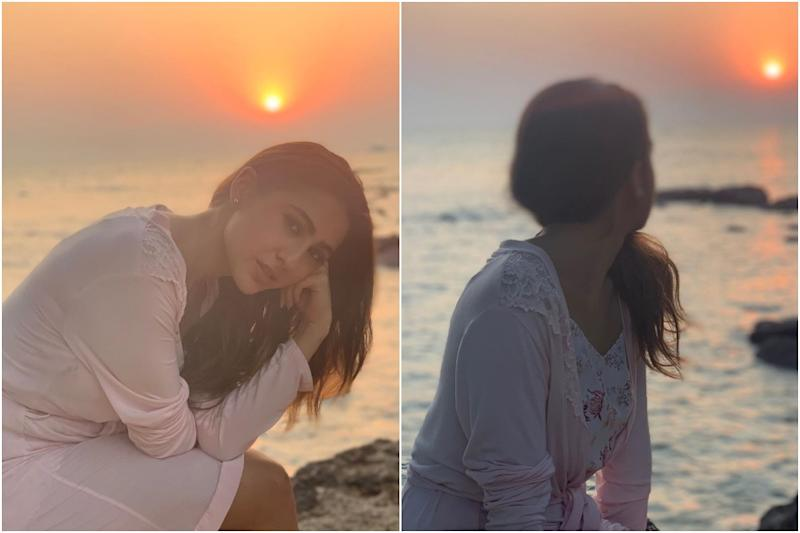 Sara Ali Khan Enjoys Goa Sunset in Floral Dress and Baby Pink Shrug, See Pics