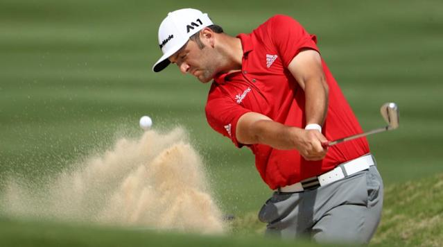 AUSTIN, Texas (AP) - Dustin Johnson finally held up his end of the bargain Sunday morning, setting up a powerful title bout in the Dell Technologies Match Play against Jon Rahm.