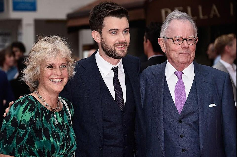 """Perks of the job: Hilary Whitehall, Jack Whitehall and Michael Whitehall attend the World Premiere of """"The Bad Education Movie"""" at the Vue West End on August 20, 2015 in London, England. (Photo by Ian Gavan/Getty Images)"""
