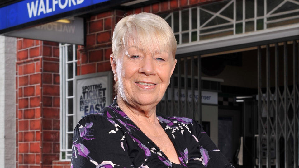Laila Morse as Big Mo in 'EastEnders'. (Credit: BBC)