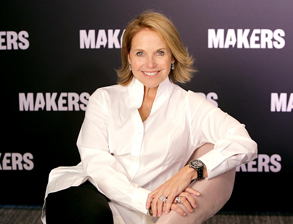 LOS ANGELES, CALIFORNIA - FEBRUARY 11: Katie Couric attends The 2020 MAKERS Conference on February 11, 2020 in Los Angeles, California. (Photo by Rachel Murray/Getty Images for MAKERS)