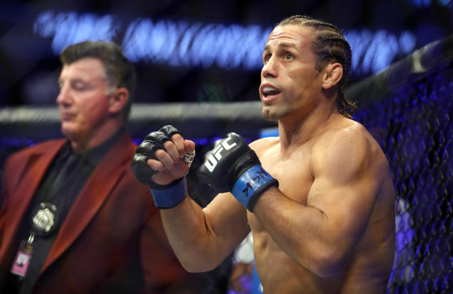 Urijah Faber prepares for a bantamweight fight against Petr Yan during UFC 245 at T-Mobile Arena on Dec. 14, 2019 in Las Vegas. (Steve Marcus/Getty Images)