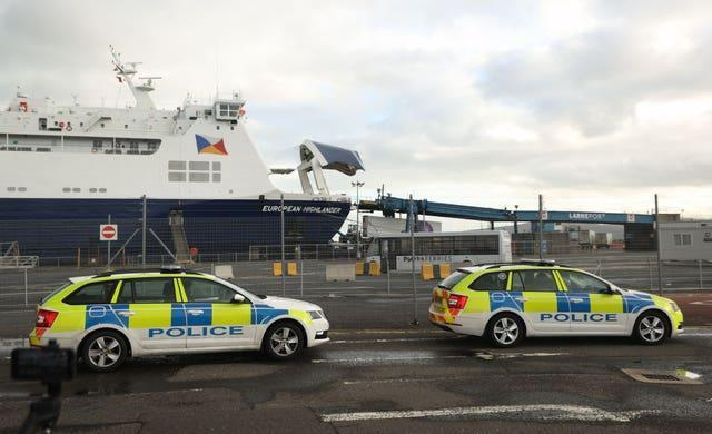 Tensions have been mounting over new checks required on goods arriving into Northern Ireland from GB