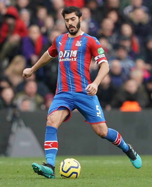 James Tomkins hit the crossbar for Palace