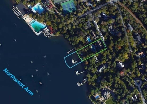 This photo shows the location of a proposed infill along the Northwest Arm in Halifax. Now a second property owner is proposing to infill. (Transport Canada - image credit)
