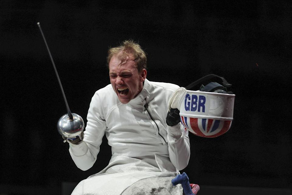 <p>Piers Gilliver (pictured) showed just how much his gold medal (category A) meant to him. Meanwhile, Dimitri Coutya grabbed a bronze medal in category B.</p>