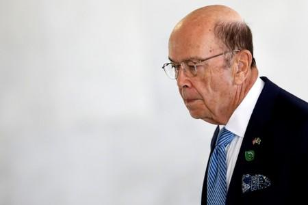 FILE PHOTO: U.S. Commerce Secretary Wilbur Ross arrives to a meeting at the Planato Palace in Brasilia
