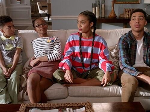 Almaviligerais, Pops' older sister unexpectedly shows up to the house for Thanksgiving, which excites everyone except Ruby. Bow and Dre go on their last vacation before their new baby arrives, and the kids try to figure out why Ruby hates Almaviligerais so much. Photo courtesy of IMDB.