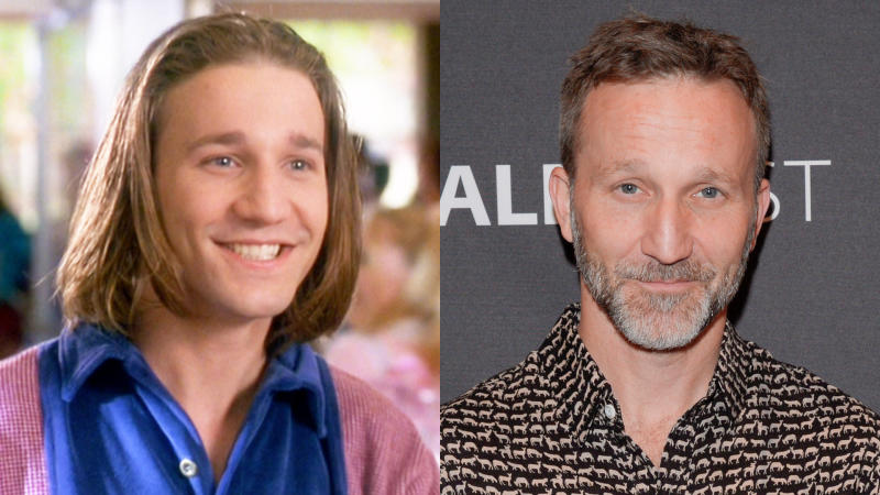 Breckin Meyer in 'Clueless' and in 2019. (Credit: Paramount/CBS/Lev Radin/Pacific Press/LightRocket/Getty)