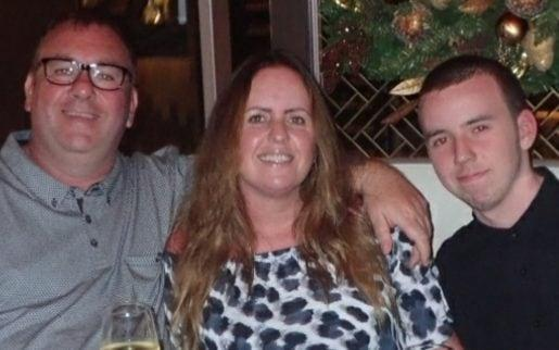 Liam McGrory, pictured with parents William and Christine, has seen his dreams of winning a place at medical school ruined.He will appeal his results. - William McGrory/submitted