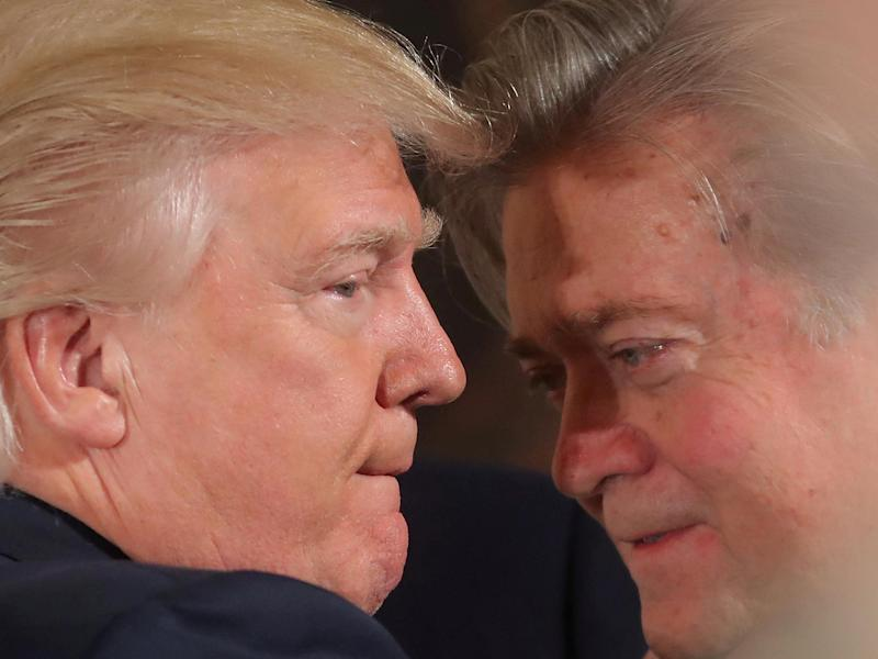 Steve Bannon founded the far-right website Breitbart which supported Donald Trump's presidential bid: Reuters