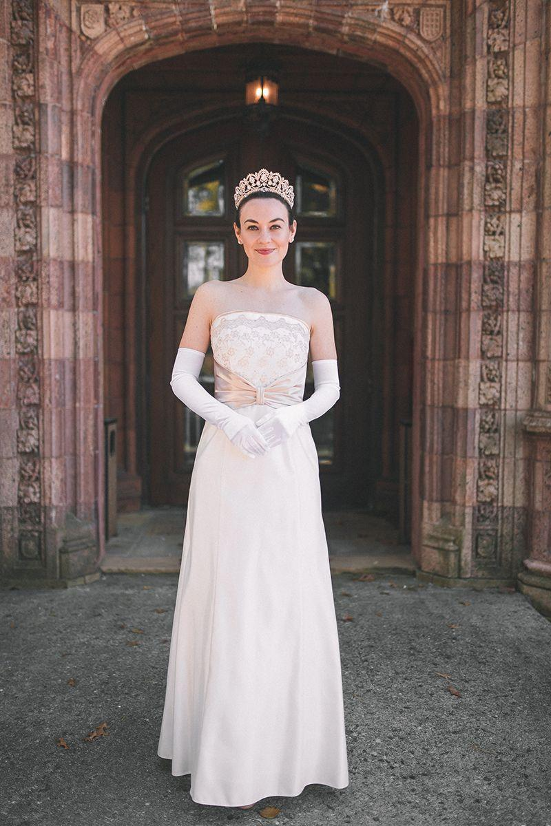 "<p>Or, to be more precise: Amelia Mignonette Grimaldi Thermopolis Renaldo. Recreate her gorgeous coronation gown for a truly royal evening. </p><p><em><a href=""https://www.carlytheprepster.com/princess-diaries-halloween-costume.html"" rel=""nofollow noopener"" target=""_blank"" data-ylk=""slk:Get the tutorial at Carly The Prepster »"" class=""link rapid-noclick-resp"">Get the tutorial at Carly The Prepster »</a></em></p>"