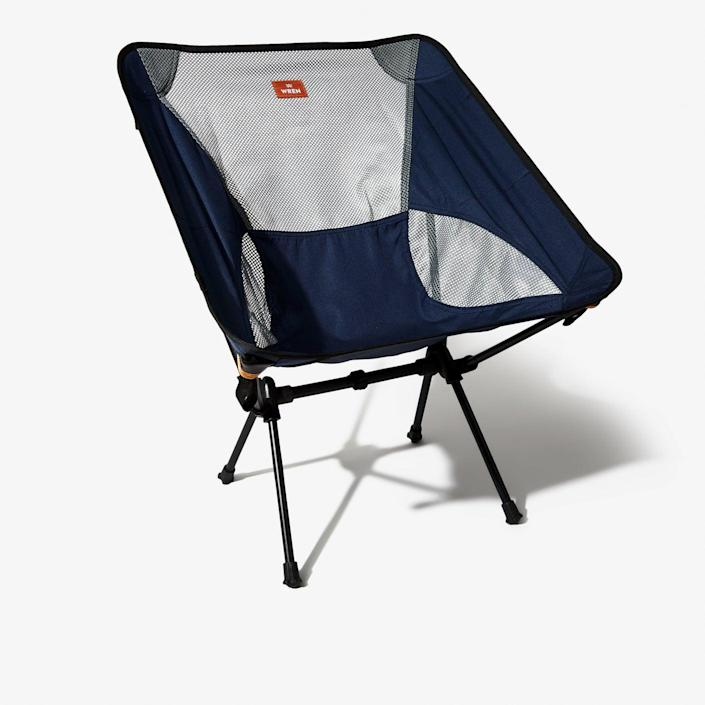"""<h2>Wren Compact Camp Chair</h2><br>Looking for something that will take up little space in your thru-hiking backpack? The Wren compact chair, when all packed up, is about the size of a water bottle. The design is very similar to your classic pole-and-hub tent, making it easy to assemble and take apart in no time.<br><br><em>Shop<strong> <a href=""""https://www.bespokepost.com/store/brands/wren"""" rel=""""nofollow noopener"""" target=""""_blank"""" data-ylk=""""slk:Wren"""" class=""""link rapid-noclick-resp"""">Wren</a></strong></em><br><br><strong>Wren</strong> Compact Camp Chair, $, available at <a href=""""https://go.skimresources.com/?id=30283X879131&url=https%3A%2F%2Fwww.bespokepost.com%2Fstore%2Fwren-camp-chair"""" rel=""""nofollow noopener"""" target=""""_blank"""" data-ylk=""""slk:Bespoke Post"""" class=""""link rapid-noclick-resp"""">Bespoke Post</a>"""
