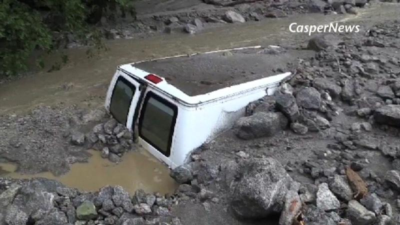 CAMPERS TRAPPED BY MUDSLIDE IN CALIFORNIA