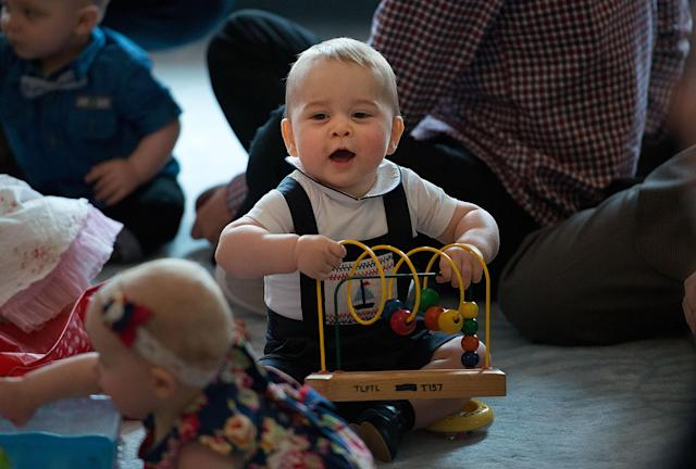 Prince George charmed at the play group when he joined his parents on the last tour. (Getty Images)