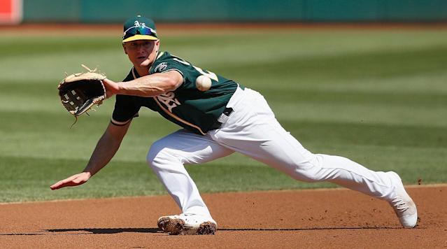 "<p>The A's may have been <a href=""https://www.baseballprospectus.com/news/article/22435/more-moneyball-oaklands-other-platoon-advantage/"" rel=""nofollow noopener"" target=""_blank"" data-ylk=""slk:the first team to jump on the"" class=""link rapid-noclick-resp"">the first team to jump on the </a><a href=""https://www.baseballprospectus.com/news/article/22435/more-moneyball-oaklands-other-platoon-advantage/"" rel=""nofollow noopener"" target=""_blank"" data-ylk=""slk:flyball-heavy"" class=""link rapid-noclick-resp"">flyball-heavy</a><a href=""https://www.baseballprospectus.com/news/article/22435/more-moneyball-oaklands-other-platoon-advantage/"" rel=""nofollow noopener"" target=""_blank"" data-ylk=""slk:approach to lineup building"" class=""link rapid-noclick-resp""> approach to lineup building</a>, getting a jump on <a href=""https://www.theringer.com/2017/6/14/16044264/2017-mlb-home-run-spike-juiced-ball-testing-reveal-155cd21108bc"" rel=""nofollow noopener"" target=""_blank"" data-ylk=""slk:the home-run revolution"" class=""link rapid-noclick-resp"">the home-run revolution</a> that's since become an epidemic in baseball. That approach worked like a charm from 2012 through 2014, when Oakland enjoyed a mini-version of its Moneyball heyday via three straight playoff berths.</p><p>Following three straight last-place finishes, that bash-and-mash approach might be the A's best bet to get back to the winner's circle. Matt Olson obliterated AL pitching in his truncated rookie season, smashing 24 home runs and slugging .651 in 59 games. Fellow rookie Matt Chapman combined extra-base pop with a slick glove at third base, and could be another building block. And that's not even mentioning Khris Davis, whose 43 bombs ranked him second among all AL hitters, but whose advancing age (he turns 30 next month) makes him a likely trade candidate for an organization that's long been hyper-aggressive about selling high on veterans and constantly striving to get younger. </p>"