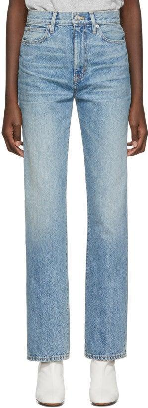 """Denim might not seem like a luxury, but finding the perfect pair is anything <em>but</em> easy. Give your mom a pair of jeans that fits just right without the hassle of her actually having to do any of the work.<br><br><strong>SLVRLAKE</strong> Blue London High-Rise Straight-Leg Jeans, $, available at <a href=""""https://go.skimresources.com/?id=30283X879131&url=https%3A%2F%2Fwww.ssense.com%2Fen-us%2Fwomen%2Fproduct%2Fslvrlake%2Fblue-london-high-rise-straight-leg-jeans%2F4735251"""" rel=""""nofollow noopener"""" target=""""_blank"""" data-ylk=""""slk:SSENSE"""" class=""""link rapid-noclick-resp"""">SSENSE</a>"""