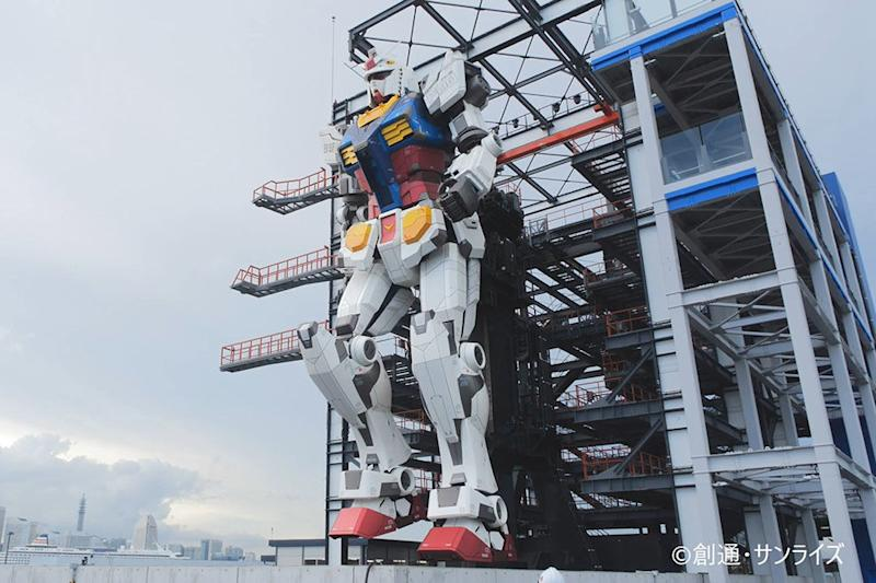 The Gundam attraction in Yokohama will last until May 2022.