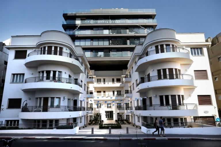 The Reisfeld House, a building built in 1935 by architect Pinchas Bijonsky according to the International Style Bauhaus which was very widespread in Tel Aviv at that time. (AFP Photo/THOMAS COEX)