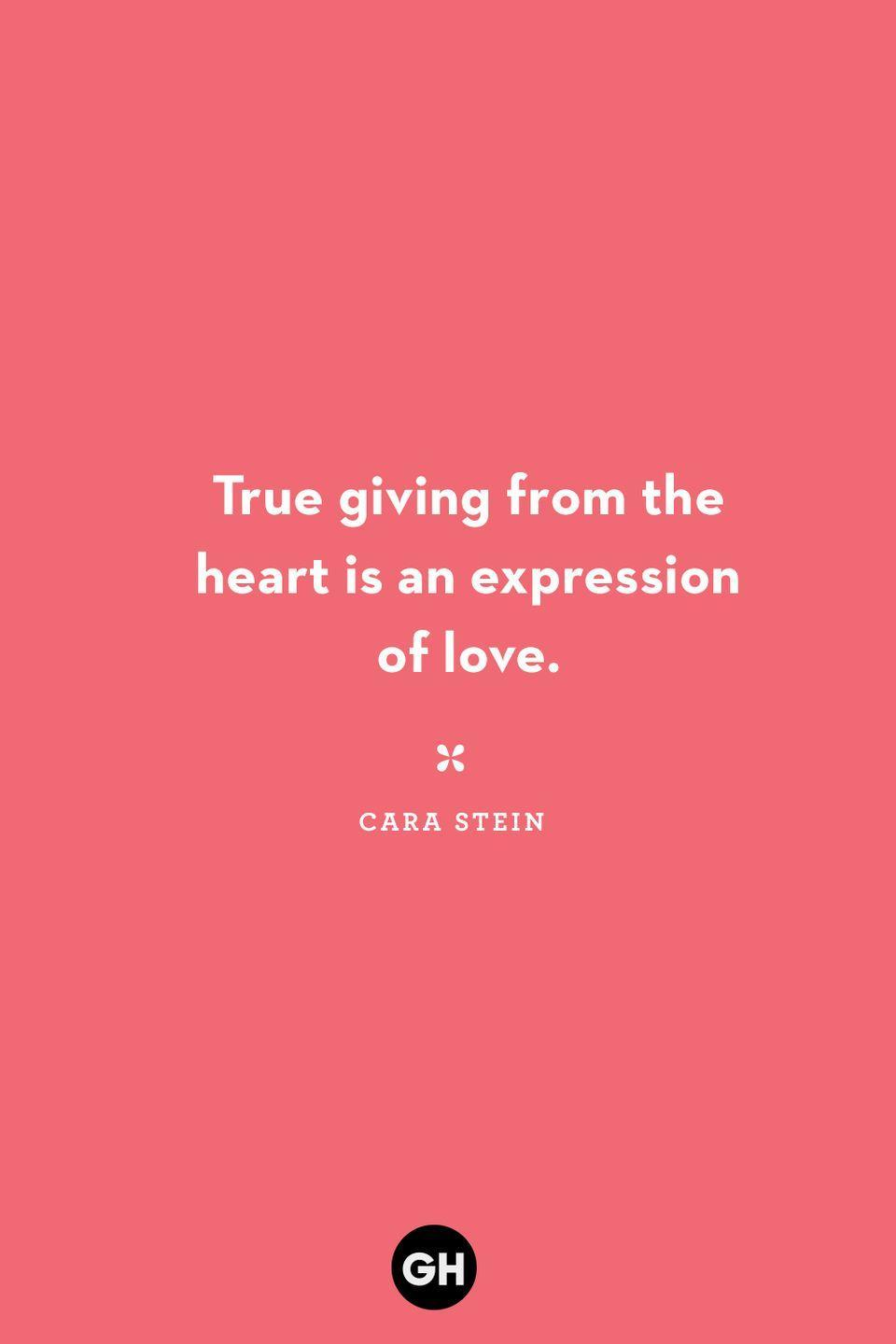 <p>True giving from the heart is an expression of love.</p>