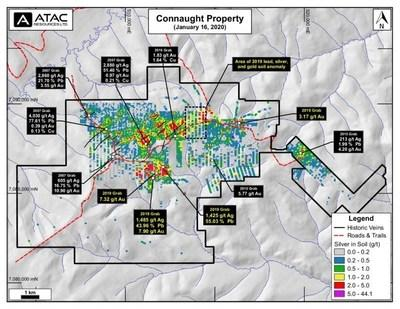 Connaught Silver Geochemistry and 2019 Rock Highlights (CNW Group/ATAC Resources Ltd.)