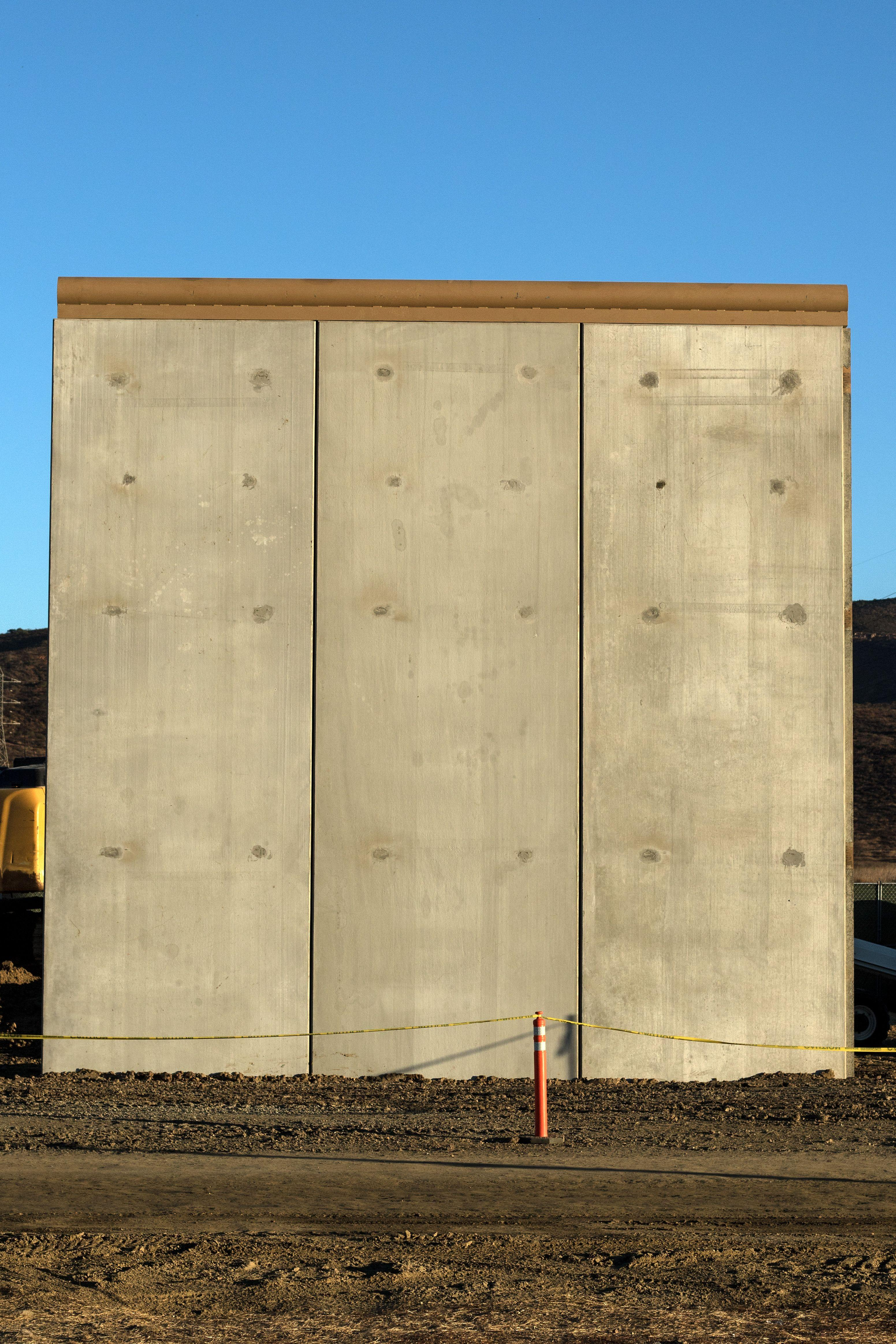 Four of the walls were made with materials other than concrete (Picture: Getty)