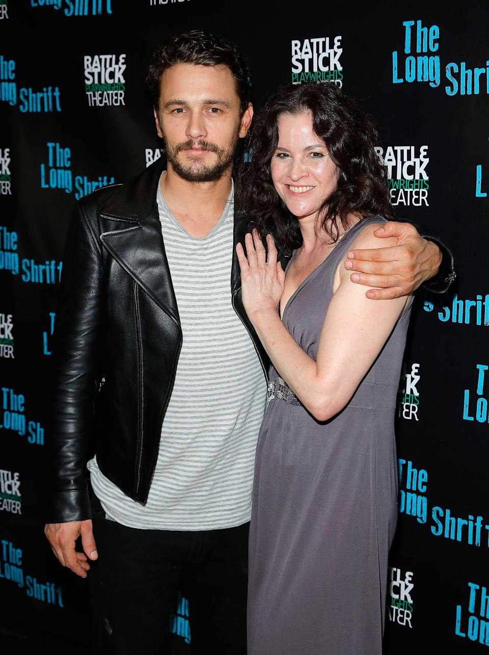 James Franco and Ally Sheedy are all smiles at the after-party for <em>The Long Shrift</em> on July 13, 2014, in New York City. (Photo: J. Countess/Getty Images)