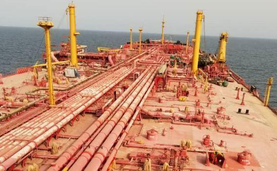 The FSO Safer supertanker, loaded with 1.1 million barrels of Yemeni crude oil, has gone largely unmaintained since Houthi rebels seized control of the vessel from the Yemeni state-run oil company in 2015. / Credit: HANDOUT