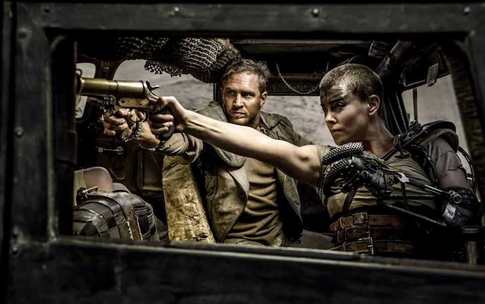 Tom Hardy and Charlize Theron in Mad Max: Fury Road - AP