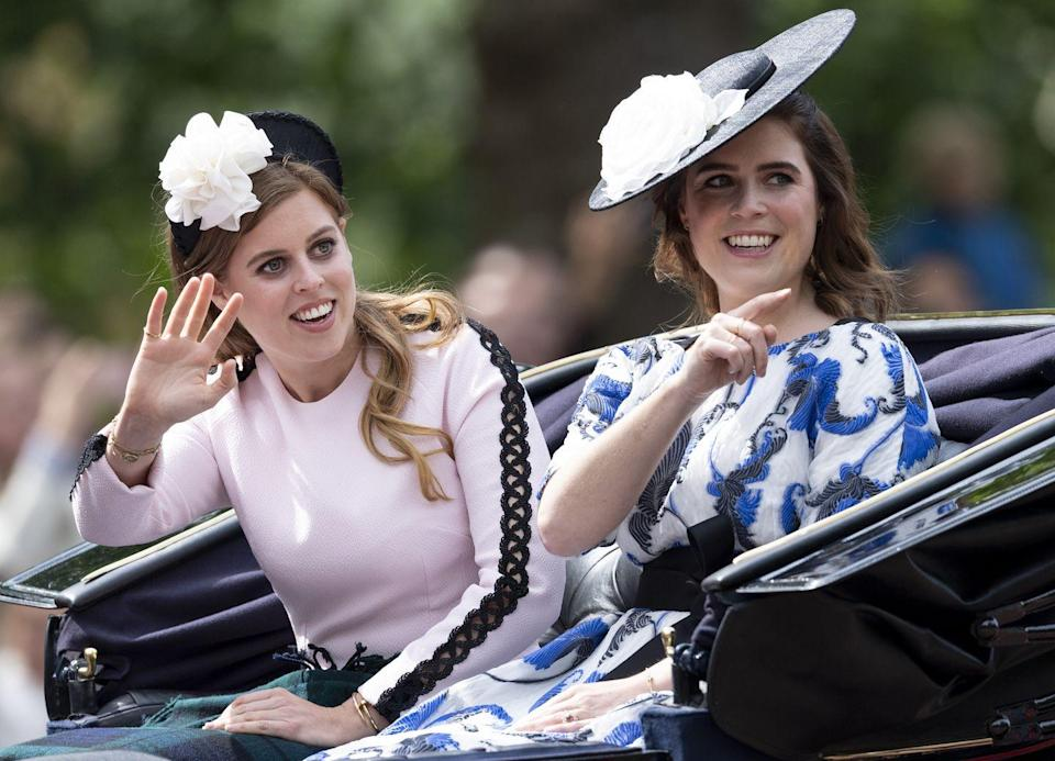 <p>For Trooping The Colour in 2019, Princess Beatrice added some edge to her pink look with black detailing.</p>