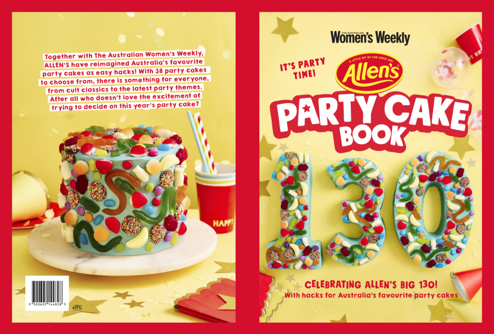 Party Book cake by Allen's Lollies and the Australian Women's Weekly