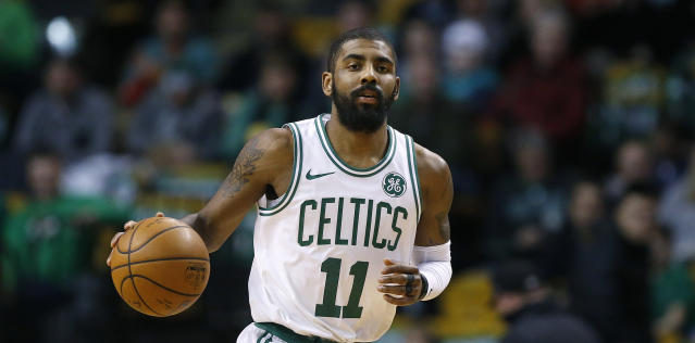 "<a class=""link rapid-noclick-resp"" href=""/nba/players/4840/"" data-ylk=""slk:Kyrie Irving"">Kyrie Irving</a> has missed Boston's last three games. (AP)"